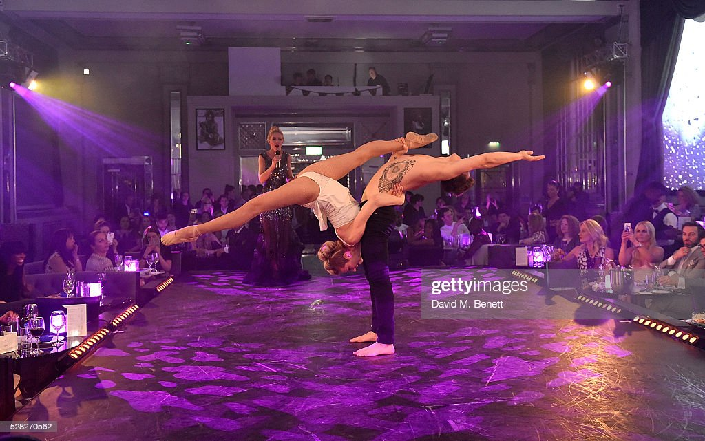 Performers at The London Cabaret Club launch party at The Bloomsbury Ballroom on May 4, 2016 in London, England.