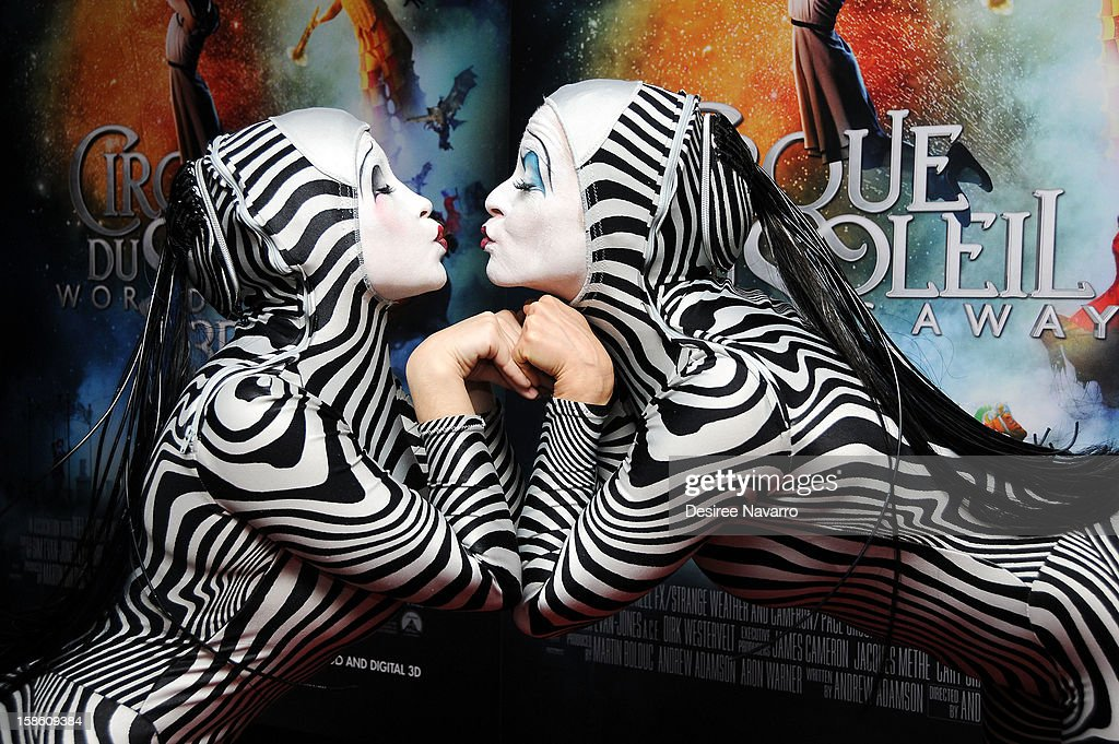 Performers attend 'Cirque Du Soleil: Worlds Away' New York Screening at Regal E-Walk on December 20, 2012 in New York City.