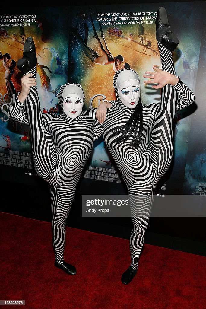 Performers attend 'Cirque Du Soleil: Worlds Away' New York Special Screening at Regal E-Walk on December 20, 2012 in New York City.