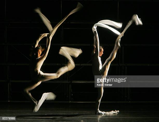 Performers dance at the 'Center Dance Association' and 'Dance at the Music Center's' celebration of The Beijing Modern Dance Company at the Dorothy...