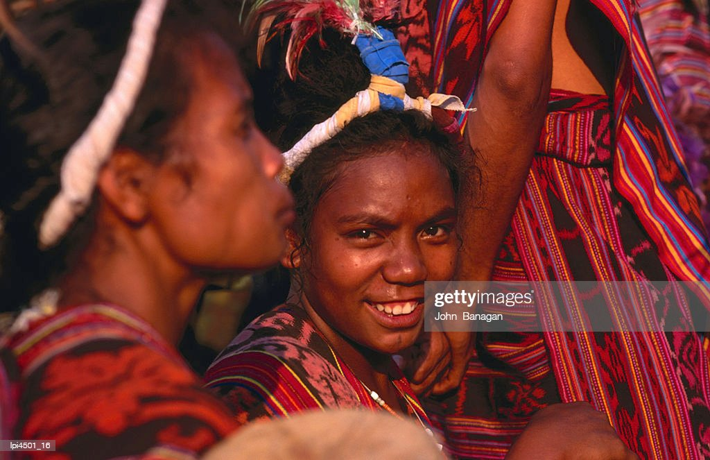 Performers during traditional Timorese dance, Dili, East Timor