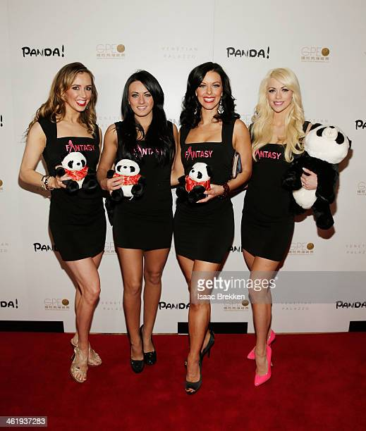 Performers from 'Fantacy' arrive at the world premiere of 'PANDA' on January 11 2014 in Las Vegas Nevada