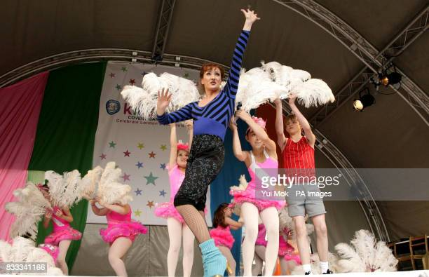 Performers from the musical 'Billy Elliot' including Travis Yates aged 14 who plays Billy on stage and the Billy Elliot Ballet Girls at the annual...