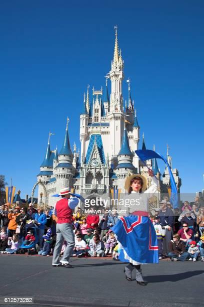 Performers in Disney Dreams Come True Parade, Magic Kingdom, Disney World, Orlando, Florida, USA