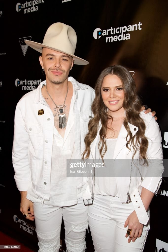Performers Jesse & Joy attend Fuerza Mexico Fundraiser at Conga Room on October 26, 2017 in Los Angeles, California.