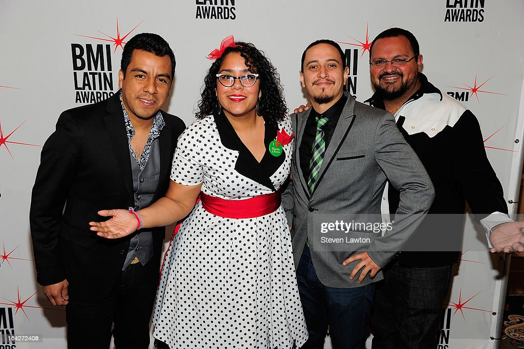 Performers La Santa Cecilia arrives at the BMI;s 20th Annual Latin Music Awards at the Bellagio on March 21, 2013 in Las Vegas, Nevada.