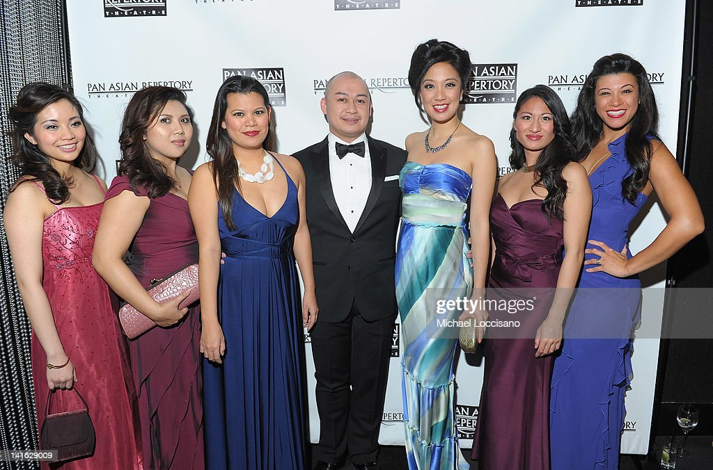 Performers Leanne Cabrera, Loresa Lanceta, Liz Casasola, Brian Jose, Rosanne Ma, Jonelle Margallo and Angelica Aspiras attend 'Legacy And Homecoming' the Pan Asian Repertory's 35th Anniversary Gala at The Edison Ballroom on March 19, 2012 in New York City.