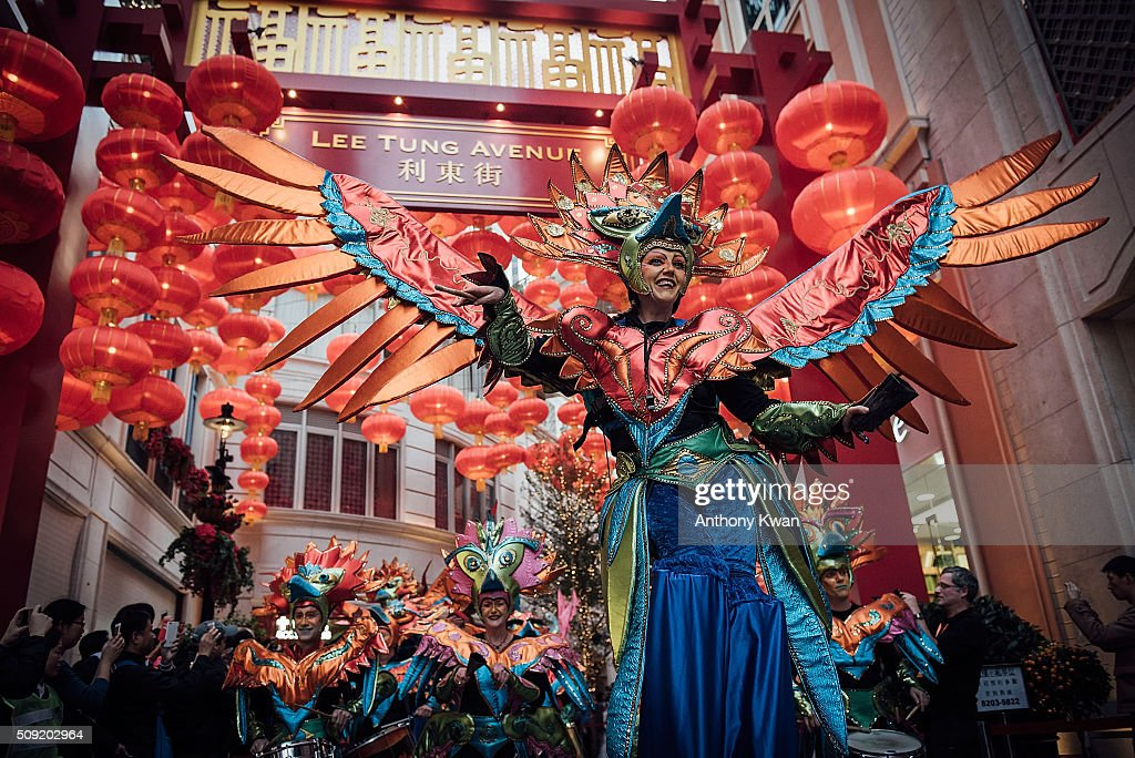 Performers participate at a Chinese New Year Parade on February 9, 2016 in Hong Kong. The Chinese Lunar New Year also known as the Spring Festival, which is based on the Lunisolar Chinese calendar, is celebrated from the first day of the first month of the lunar year and ends with Lantern Festival on the fifteenth day.