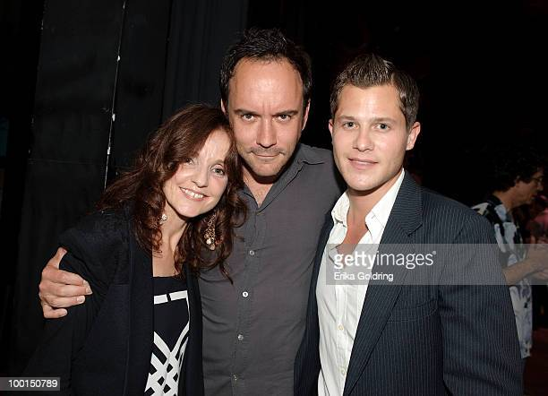 Performers Patty Griffin Dave Matthews and Brandon Young backstage during the Music Saves Mountains benefit concert at the Ryman Auditorium on May 19...
