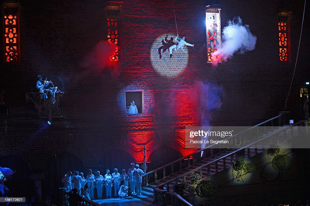 Performers present a show during the Nobel Banquet at Town Hall on December 10, 2012 in Stockholm, Sweden.