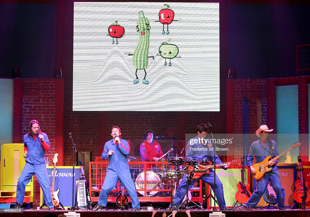 Performers Scott Durbin, David Poche, Rich Collins, and Scott Smith perform onstage with Disney's Imagination Movers in Los Angeles during their first ever US concert tour at Club Nokia on December 5, 2009 in Los Angeles, California.