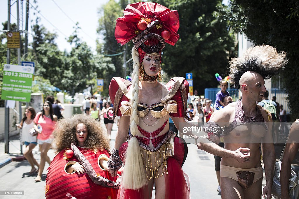 Performers take part in the annual Tel Aviv Gay Pride parade on June 7, 2013 in Tel Aviv, Israel. Thousands of people gathered in Tel Aviv for the parade, which attracts visitors from all over the world.