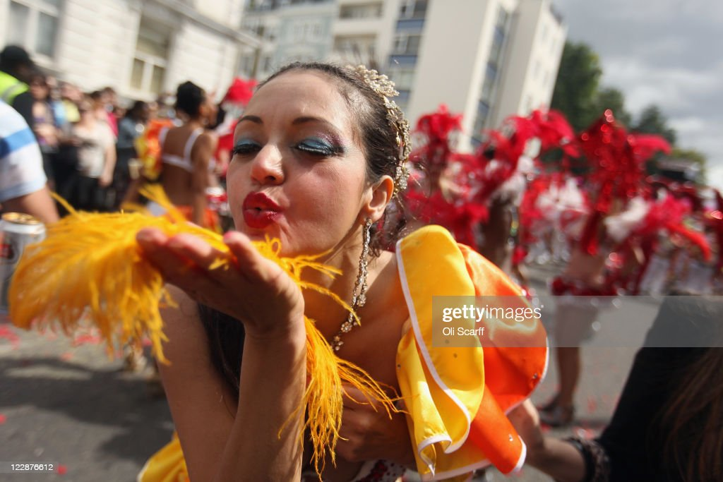 Performers take part in the Notting Hill Carnival on August 29, 2011 in London, England. The annual carnival, which is the largest of its kind in Europe and is expected to attract around 1 million revellers, has taken place every August Bank Holiday since 1966.