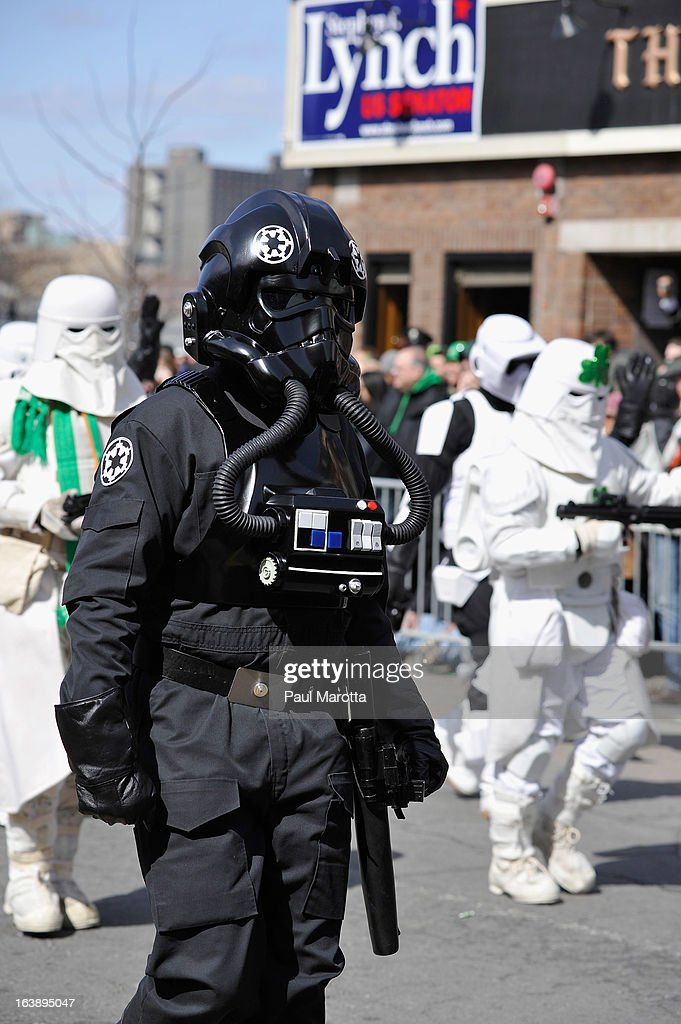 Performers take part in the South Boston 2013 St. Patrick's Day Parade on March 17, 2013 in South Boston, Massachusetts.