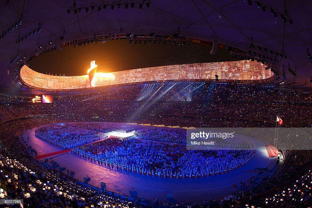 Performers take part in the the Opening Ceremony for the Beijing 2008 Olympic Games at the National Stadium on August 8 in Beijing, China.