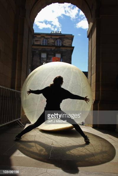 Performers take to the Royal Mile to promote their Fringe Festival shows on August 20 2010 in Edinburgh Scotland This 64th Edinburgh Festival Fringe...