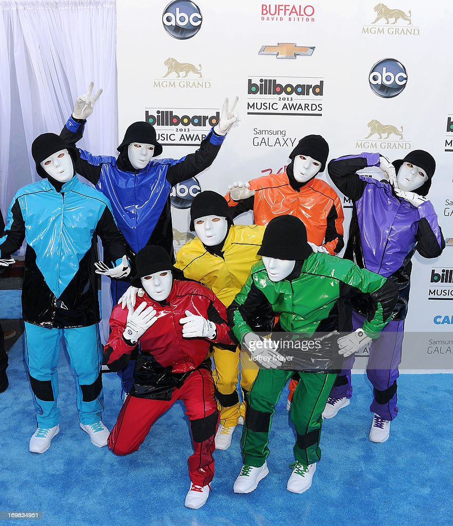 Performers The Jabbawockeez arrive at the 2013 Billboard Music Awards at the MGM Grand Garden Arena on May 19, 2013 in Las Vegas, Nevada.
