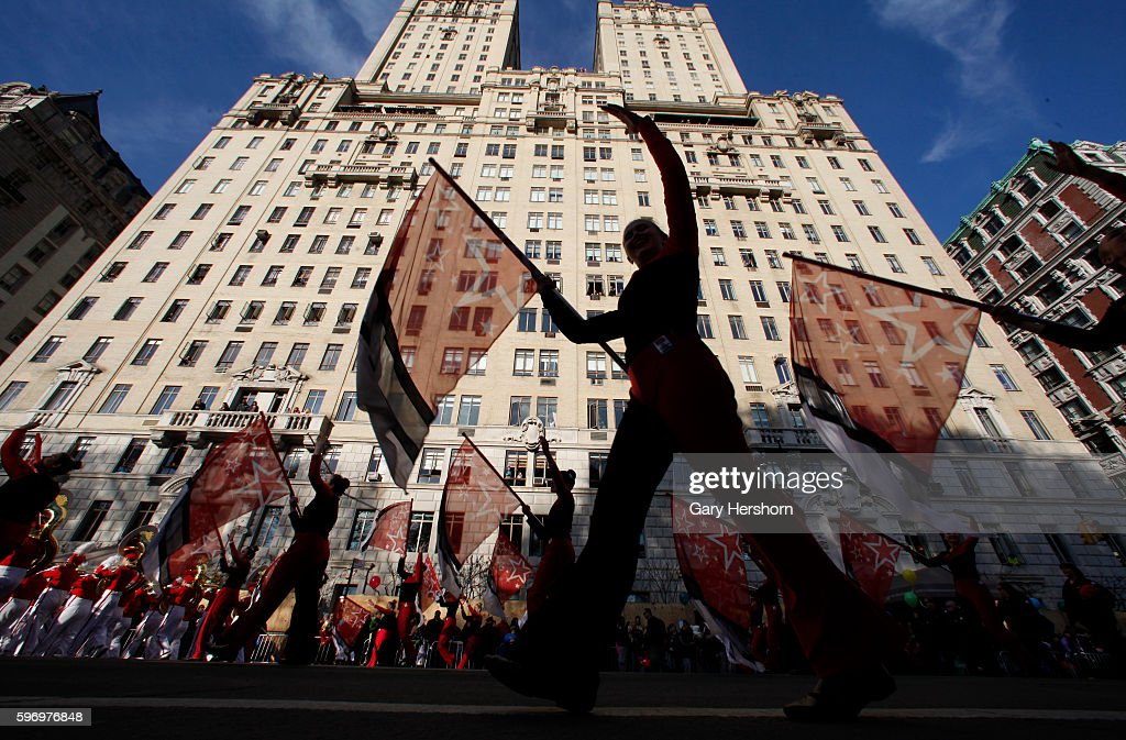 Performers walk down Central Park West in the Macy's Thanksgiving Day Parade in New York November 26 2015