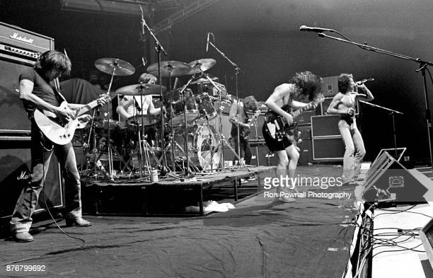 DC performing at Buffalo Memorial Auditorium September 27 1978 Malcolm Young Phil Rudd Cliff Williams Angus Young Bon Scott