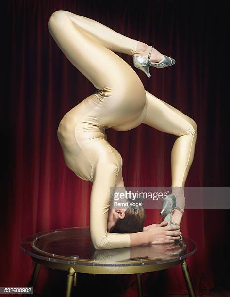 Performing Female Contortionist