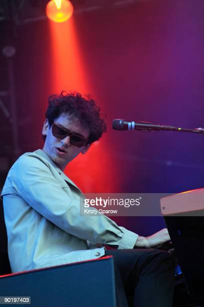 MGMT performing on stage during the Rock en Seine music festival on August 30 2009 in Paris France