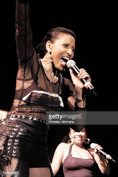 Performing on stage Lalah Hathaway Lisa Simone and Milini Kahn Nona Hendryx Joyce Kennedy and Sandra StVictor
