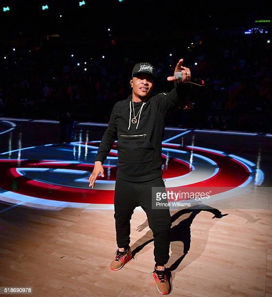 I Performs at Clevland Cavaliers vs Atlanta Hawks Game at Philips Arena on April 1 2016 in Atlanta Georgia