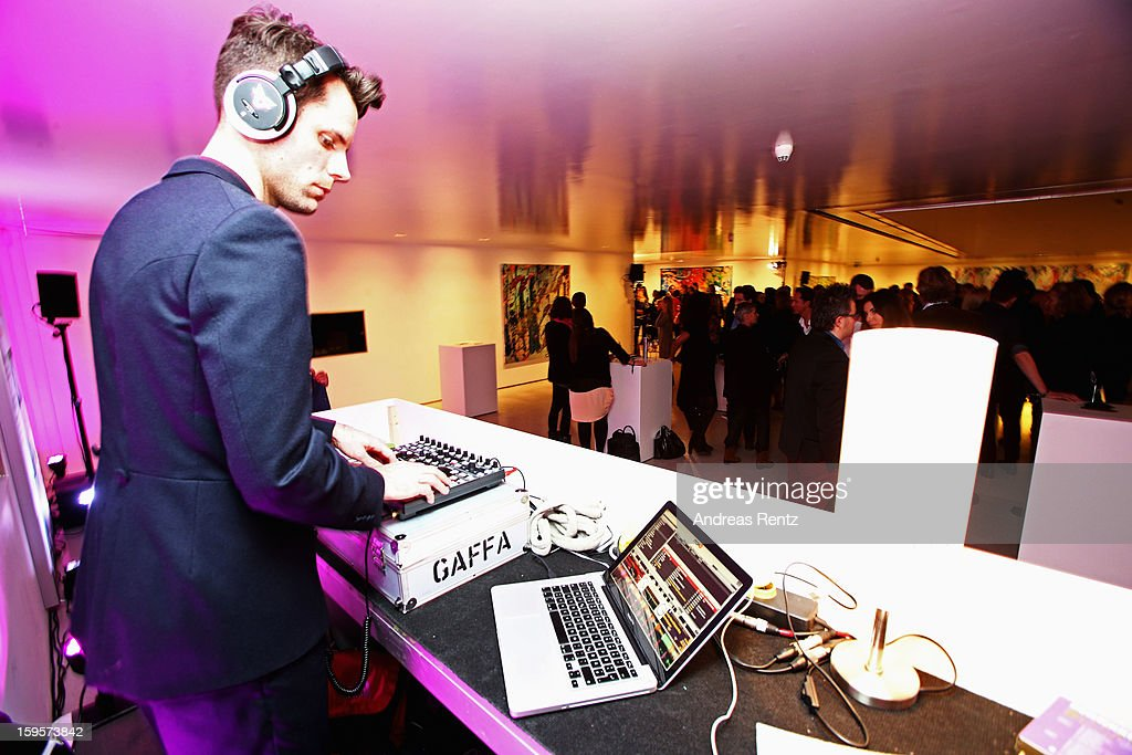 A DJ performs at Flair Magazine Party at Pariser Platz 4 on January 15, 2013 in Berlin, Germany.