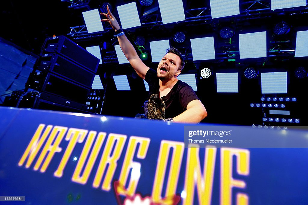 ATB performs at 'Nature One' massive rave, held at the former US rocket base Pydna on August 3, 2013 in Kastellaun, Germany.