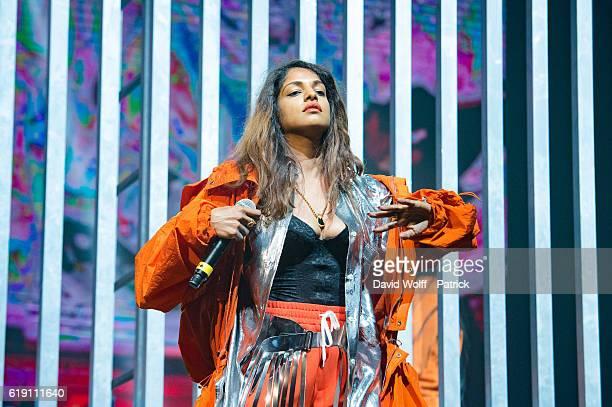 A performs at Pitchfork Festival at Grande Halle de La Villette on October 29 2016 in Paris France