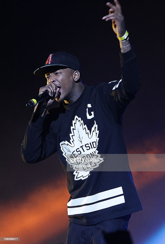 YG performs at Power 106FM Presents CaliChristmas at Gibson Amphitheatre on December 14, 2012 in Universal City, California.