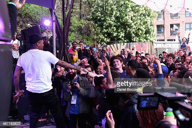 YG performs at the AXE White Label Collective Party powered by SPIN at SXSW on March 21 2015 in Austin Texas