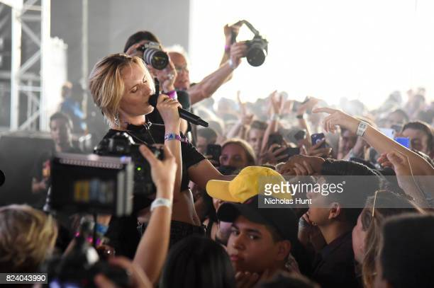 MØ performs at The Pavilion Stage during the 2017 Panorama Music Festival at Randall's Island on July 28 2017 in New York City