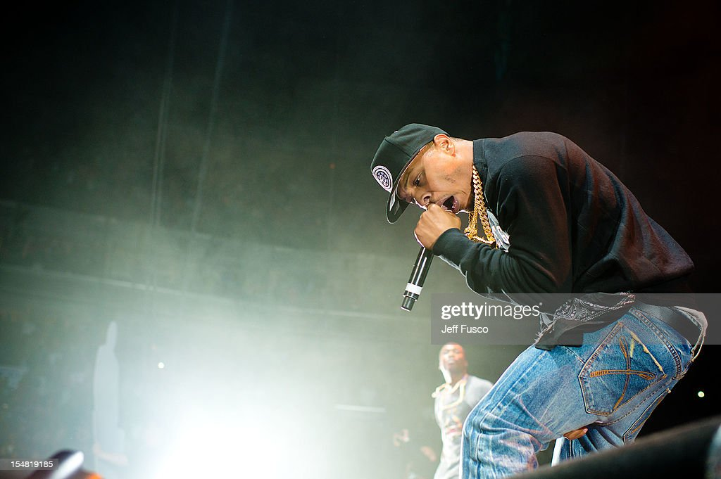 <a gi-track='captionPersonalityLinkClicked' href=/galleries/search?phrase=T.I.&family=editorial&specificpeople=221599 ng-click='$event.stopPropagation()'>T.I.</a> performs at the Power 99 Powerhouse concert at the Wells Fargo Center on October 26, 2012 in Philadelphia, Pennsylvania.