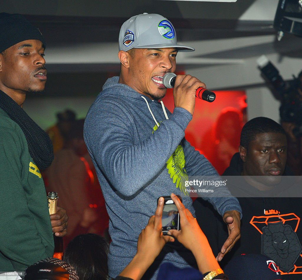 T.I. performs at T.I. 'Trouble Man Heavy Is The Head' Album Release Party at Compound on December 22, 2012 in Atlanta, Georgia.