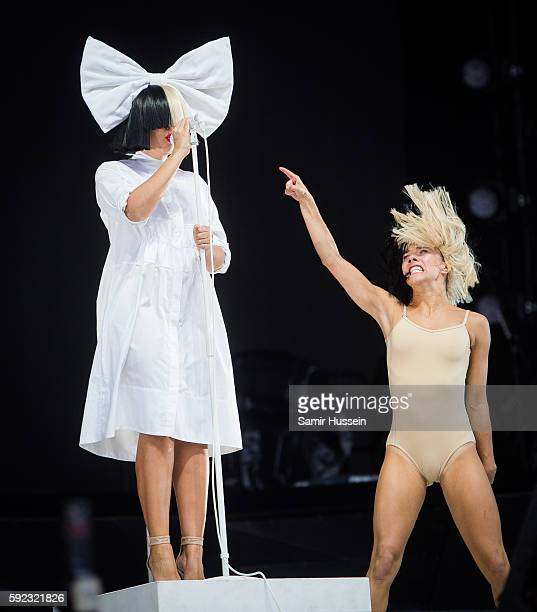 SIA performs at V Festival at Hylands Park on August 20 2016 in Chelmsford England