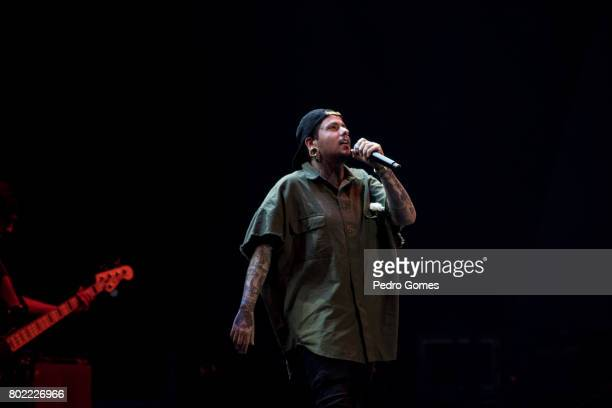 AGIR performs during Juntos por Todos solidarity concert for the victims of the forest fires in the Pedrogao Grande region of Portugal on June 27...