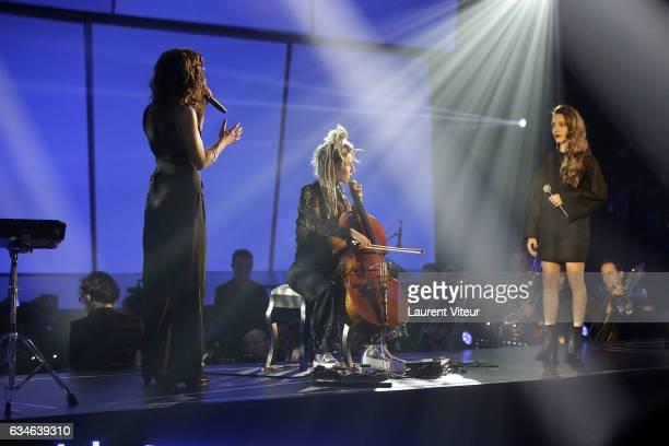 J performs during 'Les Victoires de la Musiques 2017' at Le Zenith on February 10 2017 in Paris France