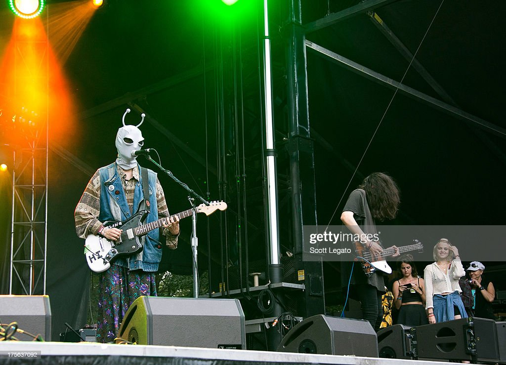 DIIV performs during Lollapalooza 2013 at Grant Park on August 4 2013 in Chicago Illinois