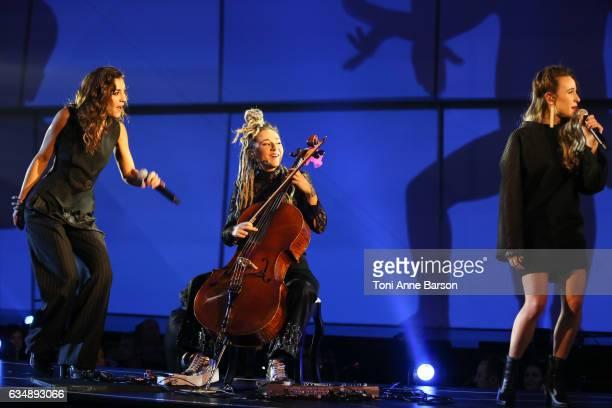 J performs during the '32nd Victoires de la Musique 2017' at Le Zenith on February 10 2017 in Paris France