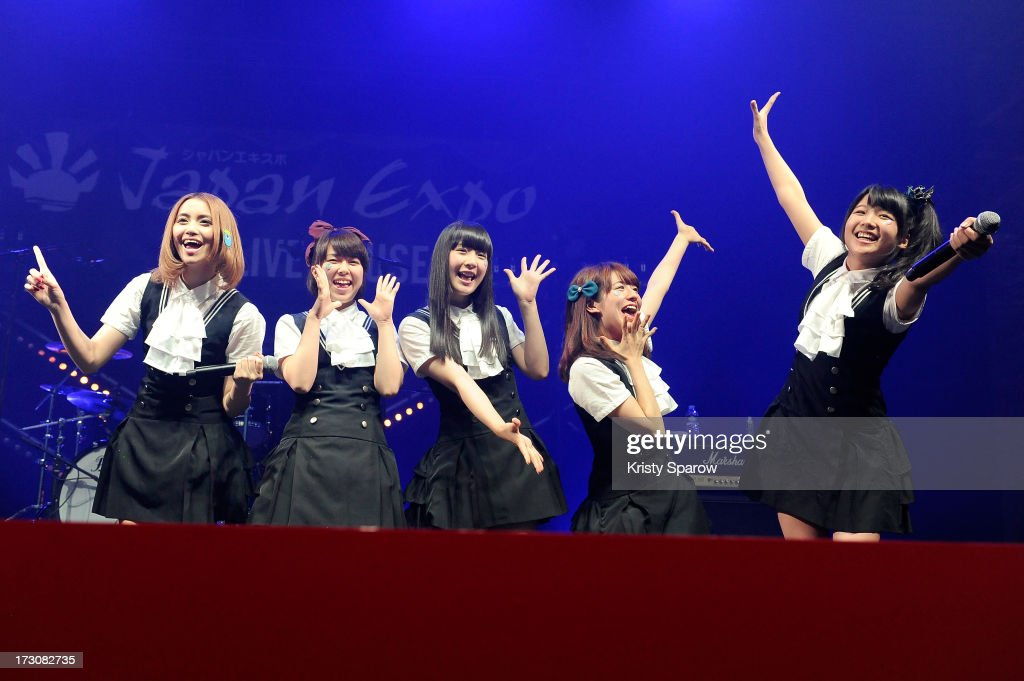 AOP performs during the JE live house 'TOYOTA x STUDIO4AC meets ANA PES' concert during the Japan Expo at Paris-nord Villepinte Exhibition Center on July 6, 2013 in Paris, France.