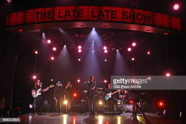 BORNS performs during 'The Late Late Show with James Corden' Monday August 7 2017 On The CBS Television Network
