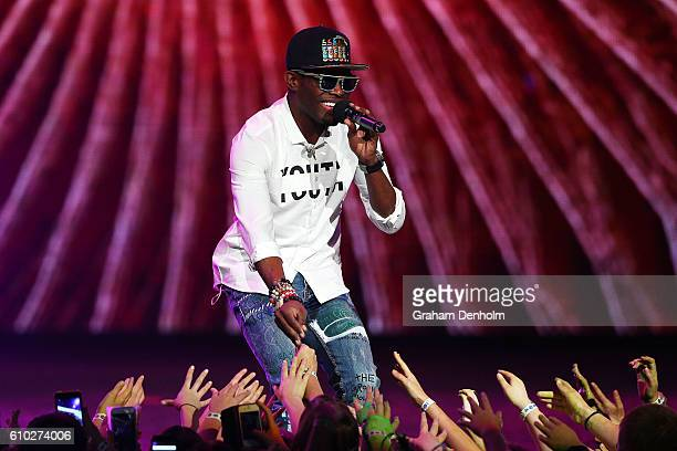 OMI performs during the Nickelodeon Slimefest 2016 matinee show at Margaret Court Arena on September 25 2016 in Melbourne Australia