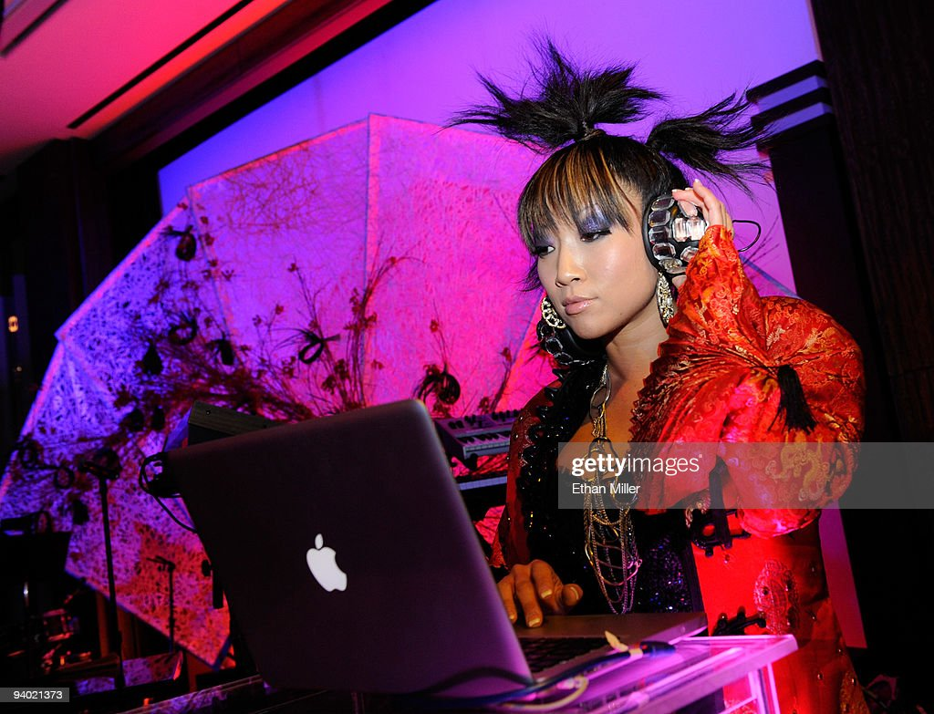 A DJ performs during the opening night gala for Mandarin Oriental, Las Vegas at CityCenter December 4, 2009 in Las Vegas, Nevada. The 47-story nongaming luxury hotel and condominium tower is the third part of the 67-acre, USD 8.5 billion mixed-use urban development center to open. The joint project between MGM Mirage and Dubai World is said to be the biggest privately financed construction project in United States history and one of the world's largest green projects being built with the Leadership in Energy & Environmental Design (LEED) Gold certified Green Building Rating System.