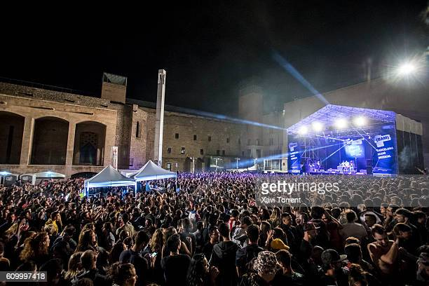 MHD performs in concert during day 2 of BAM Festival on September 23 2016 in Barcelona Spain