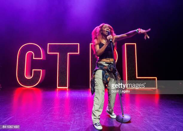 SZA performs in support of her CTRL tour at The Fillmore Detroit on August 30 2017 in Detroit Michigan