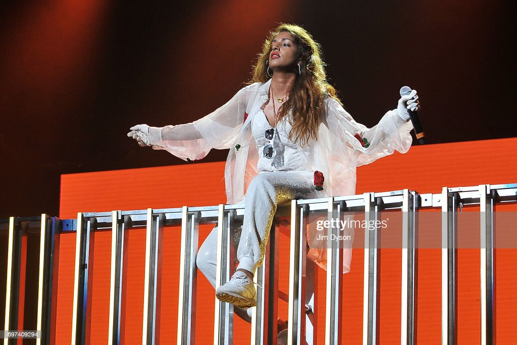 A. performs live on stage during the closing night of the Meltdown festival at The Royal Festival Hall on June 18, 2017 in London, England. Mathangi 'Maya' Arulpragasam, aka M.I.A. curated the Southbank Centre's 24th Meltdown.