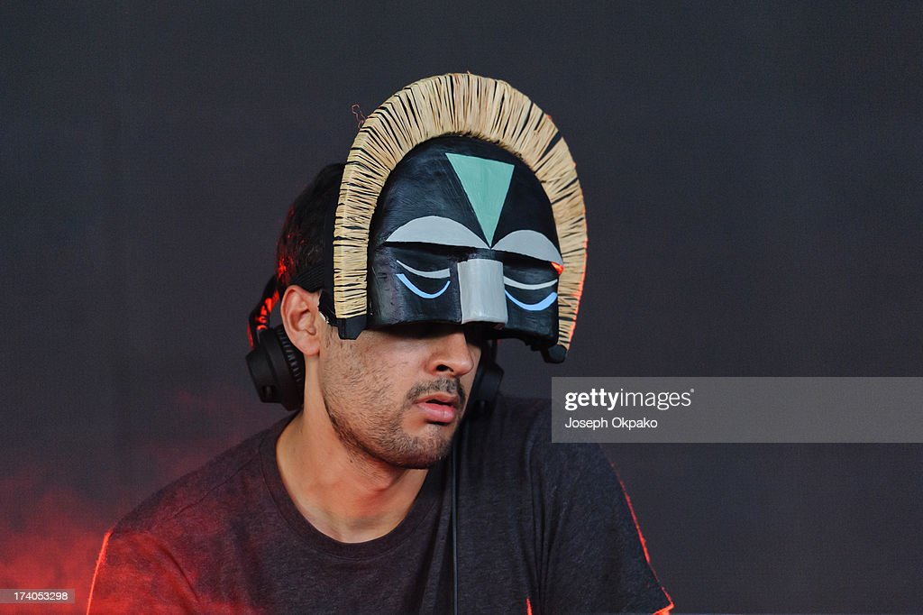 <a gi-track='captionPersonalityLinkClicked' href=/galleries/search?phrase=SBTRKT&family=editorial&specificpeople=7598250 ng-click='$event.stopPropagation()'>SBTRKT</a> performs on Day 1 of the Lovebox festival at Victoria Park on July 19, 2013 in London, England.