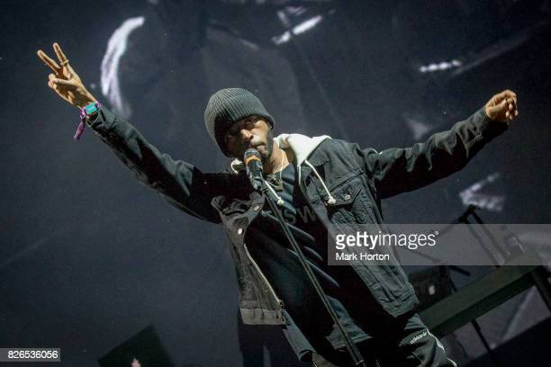6LACK performs on Day 1 of the Osheaga Music and Art Festival at Parc JeanDrapeau on August 4 2017 in Montreal Canada