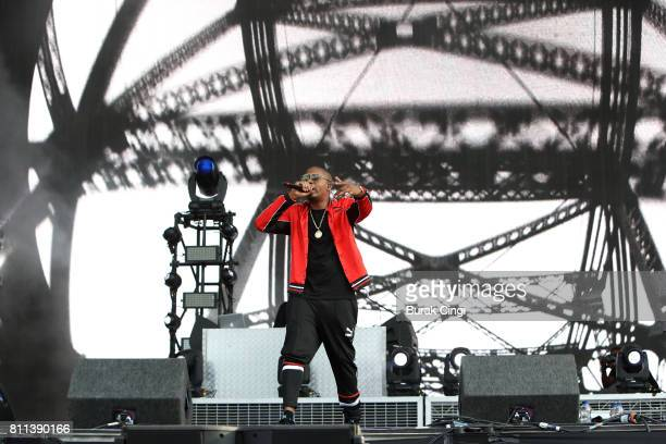 NAS performs on day 3 of Wireless Festival at Finsbury Park on July 9 2017 in London England